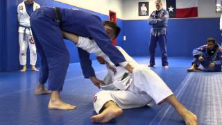 Knee on belly escape:  Stiff arm to ankle pick sweep