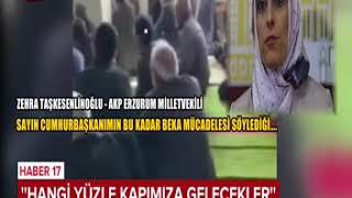 AKP'li bir kadın tarafından cami içinde parti probagandası yapıldı.