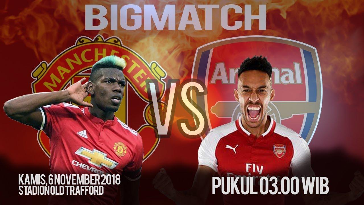 Jadwal Pertandingan Manchester United VS Arsenal FC Kamis Pukul 03 00 WIB