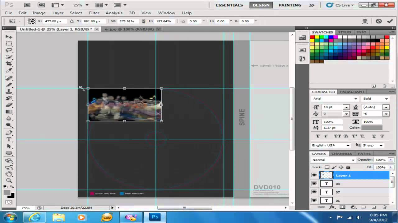Photoshop : DVD Cover Template - YouTube