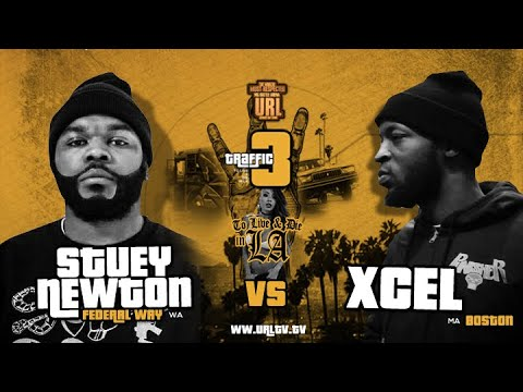 XCEL VS STUEY NEWTON SMACK/ URL RAP BATTLE | URLTV
