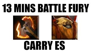 dota 2 carry es by maybe faster battle fury than my am