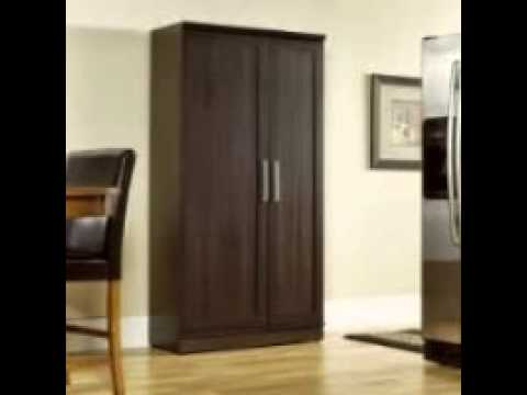 Sauder HomePlus Jumbo Storage Cabinet in Dakota Oak - YouTube