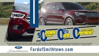 Ford Of Smithtown -  List Of Zeros Sales Event!
