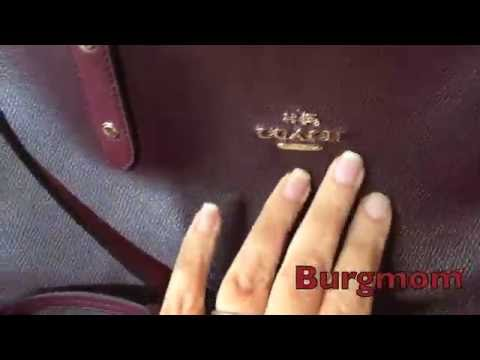 6fd0a0551d Coach city reversible tote~Oxblood Burgundy - YouTube