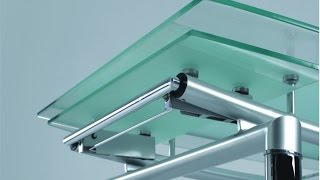 Раздвижные столы из стекла и стеклянные столы трансформеры