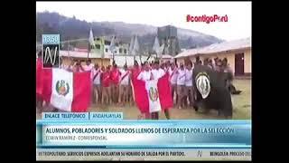 MIEMBROS DEL EJERCITO Y POBLACIÓN DE ANDAHUAYLAS ALENTARON A LA SELECCIÓN: TV-8
