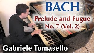 BACH Prelude and Fugue in E flat major BWV 876 from WTC II dedicated to Mariella Galvagno