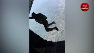 Paratroopers display skills during  the 58th Madaraka Day Celebrations in Kisumu