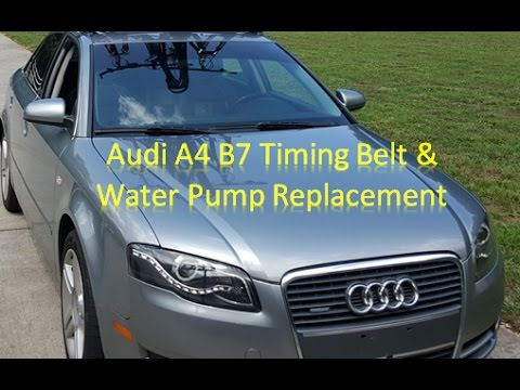 audi a4 b7 timing belt water pump replacement youtube. Black Bedroom Furniture Sets. Home Design Ideas