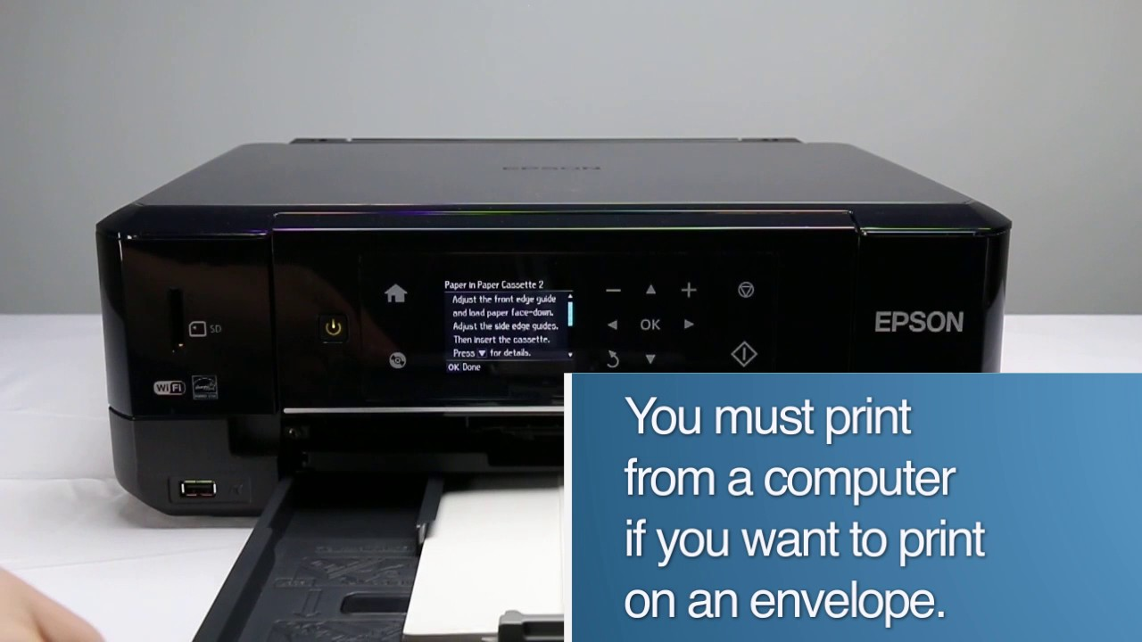 pics How to Load Envelopes into an Inkjet Printer