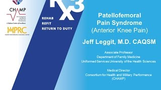 RX3 ECHO Lecture: Anterior Knee Pain