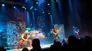 MORBID ANGEL God of emptiness  - Black Christmas Norrköping 2014-12-19