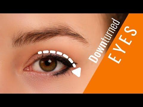 Makeup on downturned eyes