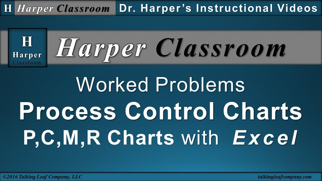 Statistical Process Control Charts Worked Problems With Excel Harper Clroom
