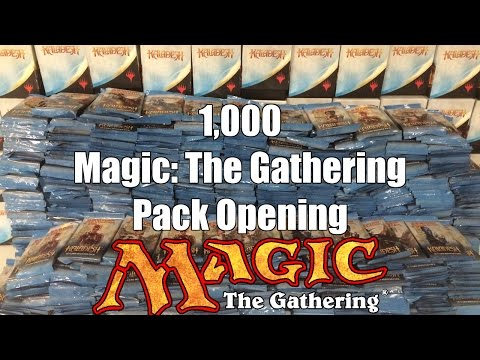 1,000 (Kaladesh) Magic: The Gathering Booster Pack Opening! unboxing mtg