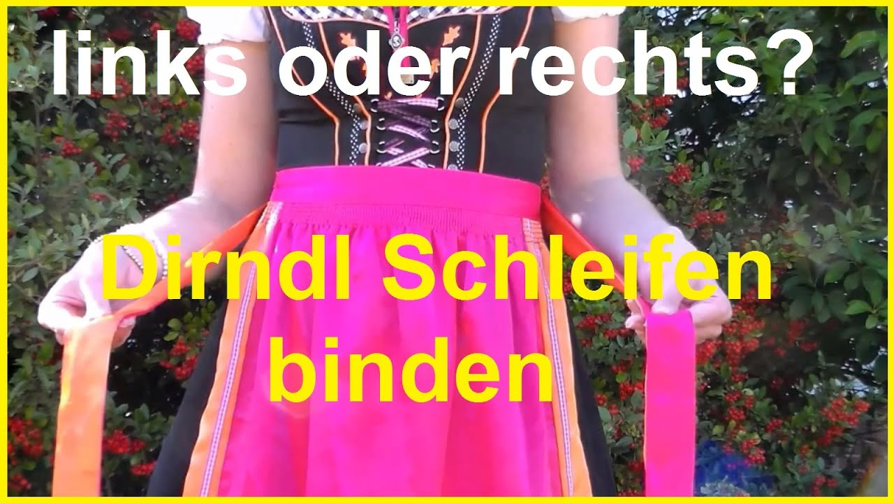 dirndl schleife binden anleitung oktoberfest dirndlsch rze richtig binden youtube. Black Bedroom Furniture Sets. Home Design Ideas