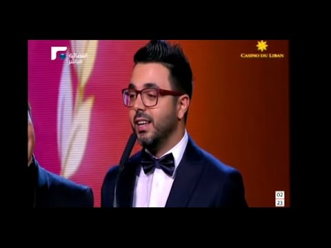 ahmed chawki  Murex D'or 2015 أحمد شوقي يتسلم ال