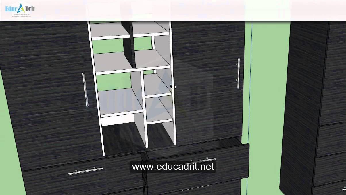 Dise o de muebles en melamina 3d youtube for Programa de diseno de muebles en 3d