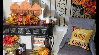 Fall Home Tour ~ Part 2 ~ Entry Foyer!!