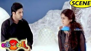 Prakash Raj Plans To Trap Kamna Jethmalani - Thrilling Scene    Love Birds Movie Scenes