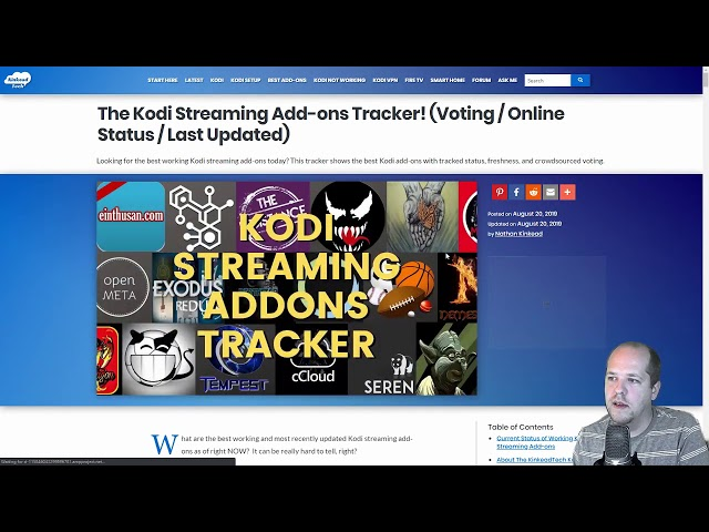 The Kodi Streaming Add-ons Tracker! (Voting / Online Status