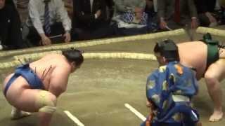 20140511 琴将菊vs千代大龍 大相撲夏場所初日.