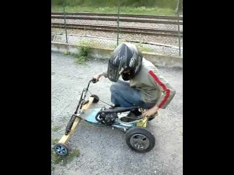 Kart fait maison avec un cadi et un moteur de pocket pour 0 de d penser y - Scarificateur fait maison ...