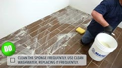 Do's and Don'ts of applying cement grout