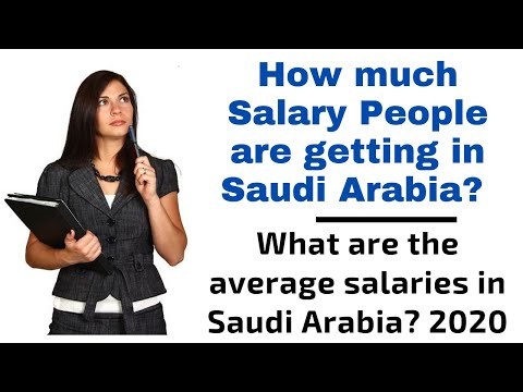 What is average salary in Saudi Arabia | 2020