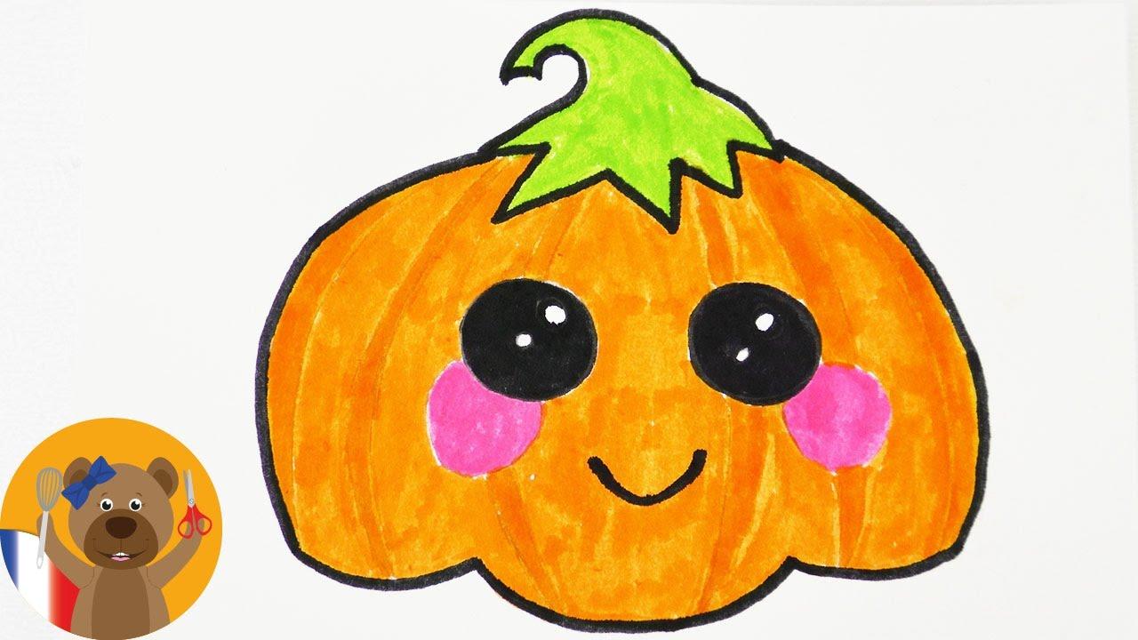 Dessiner une adorable citrouille d 39 halloween invitation et carte d 39 anniversaire youtube - Citrouille a dessiner ...