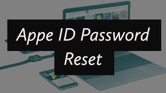 Apple ID or Password Change/Reset (If forgot)