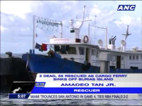 2 dead, 55 rescued from capsized ferry