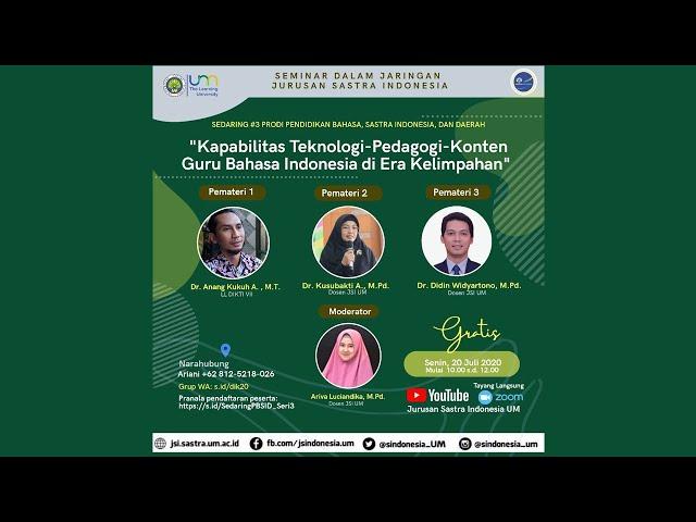 Sedaring #3 Prodi Pendidikan Bahasa, Sastra Indonesia, dan Daerah tema