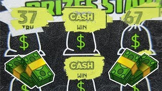 """WINS!!..TWO CASH SYMBOLS ON ONE TICKET!..$20 """"CASH MONEY"""" LOTTERY TICKET SCRATCH OFF"""