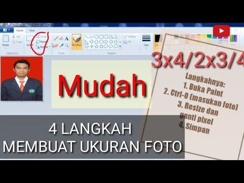 4 Langkah Mudah Membuat Ukuran Foto 2x3 3x4 4x6 Menggunakan Paint Youtube