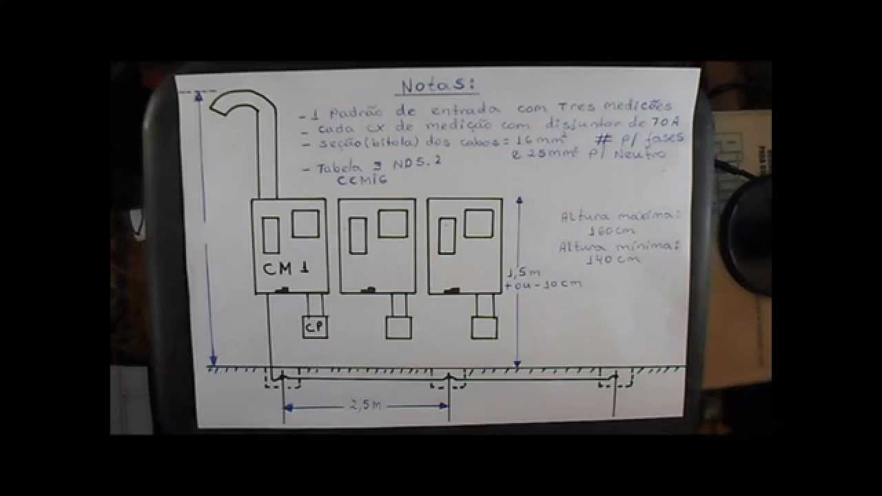 c0b6c123f94 COMO INSTALAR UM PADRÃO DE ENTRADA COM TRES CAIXAS MONOFÁSICAS DE 127V E  70A  - 1ª parte - YouTube