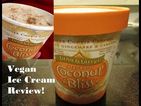 Vegan Ice Cream review: Luna & Larry's Organic Ginger Cookie Caramel (soy free, gluten free)