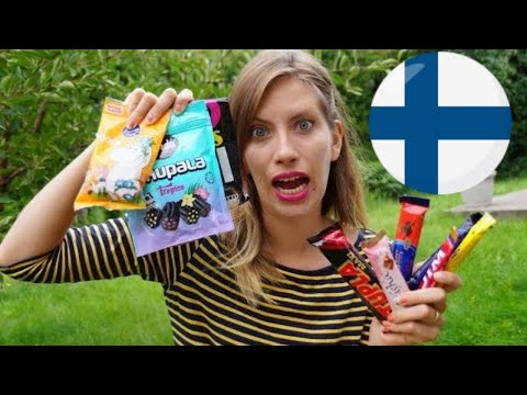 Trying Finnish Food Taste Test Challenge: (Finnish Salmiakki, Finnish Chocolate and Finnish Snacks)