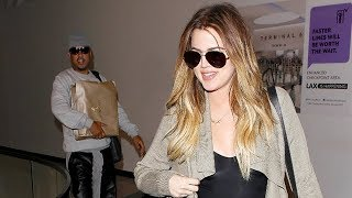 Khloe Kardashian Arrives At LAX With French Montana On Mother