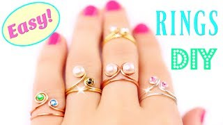 5 DIY Rings EASY & Adjustable!! How To Make a Ring | Easy Diy Rings