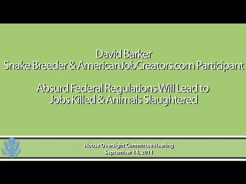 David Barker: Absurd Federal Regulations Will Lead To Jobs Killed & Animals Slaughtered