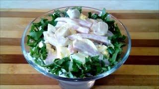 Простой вкусный салат  Салат с ветчиной