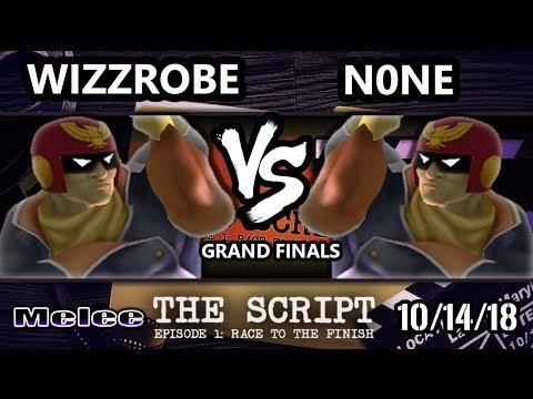 The Script  Wizzrobe L Captain Falcon Vs ALG  n0ne Captain Falcon  Smash Melee Grand Finals