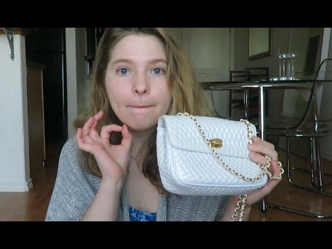 tragedia internacional Monica  Bally Lambskin Flap Bag Review + WIMB - YouTube