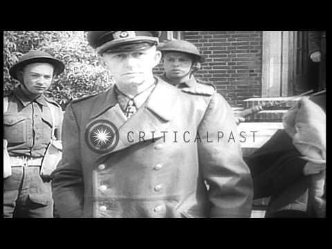 Trial of Vidkun Quisling in Oslo and German leaders surrender in Germany. HD Stock Footage