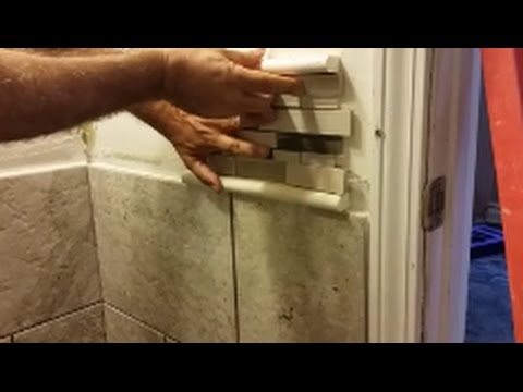 cutting bathroom tile how to install mosaic tile in bathroom shower part 1 12613 | hqdefault