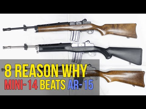 8 Reasons Why the Ruger Mini-14 is Better Than the AR15 (4K UHD)