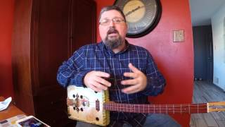 Exploring EEB tuning on cigar box guitar - Cigar Box Nation TV Live