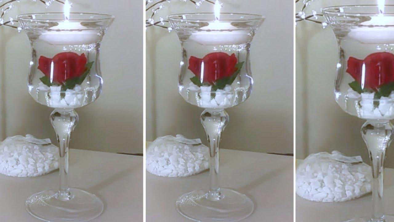 DIY| CANDLE ROSE WEDDING DECOR/ WEDDING, WEDDING DOLLAR ...